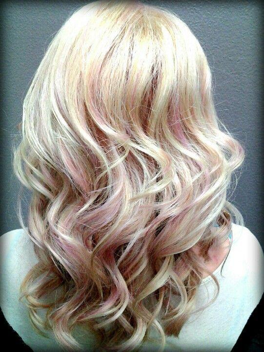 blonde hair light pink highlights wwwpixsharkcom