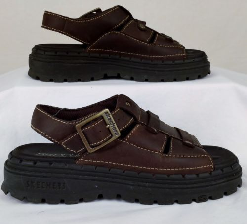 skechers leather sandals sale   OFF65% Discounted 0d7deee76