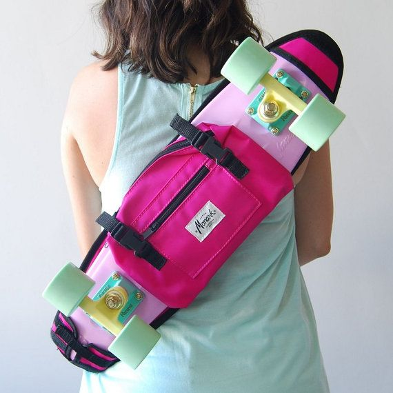 skateboard shoulder bag fashion bag for her - Pink by MONARK SUPPLY Penny skateboard, skate, skateboard, skateboards, cruisers, plastic skateboard, shoulder bag, skate backpack, penny,