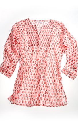 Love this colorful kurta for summer. Picturing white pants, sun hat and sun $85.00