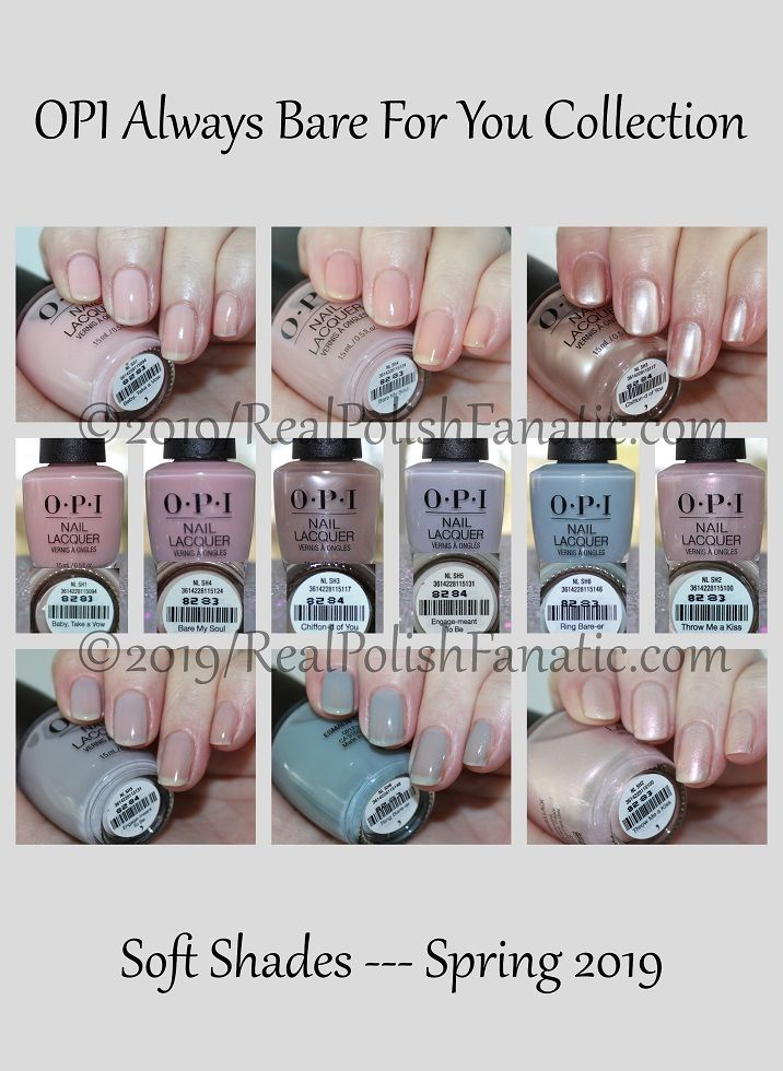 Opi Soft Shades Collection Always Bare For You Spring 2019
