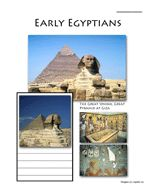 Mystery of History - Eearly Egyptians Notebooking Page