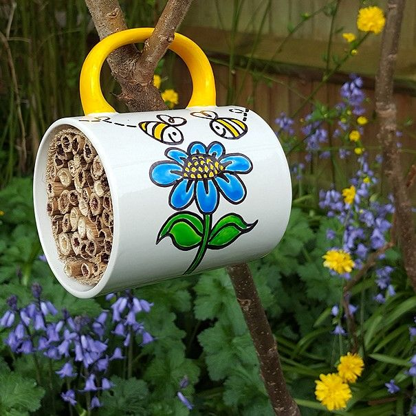 "We've caught the crafting bug! ""Bee"" creative too & #GetCrafting with our Solitary Bees Hotel tutorial. A great home or classroom activity to teach kids about nature and Bee conservation."