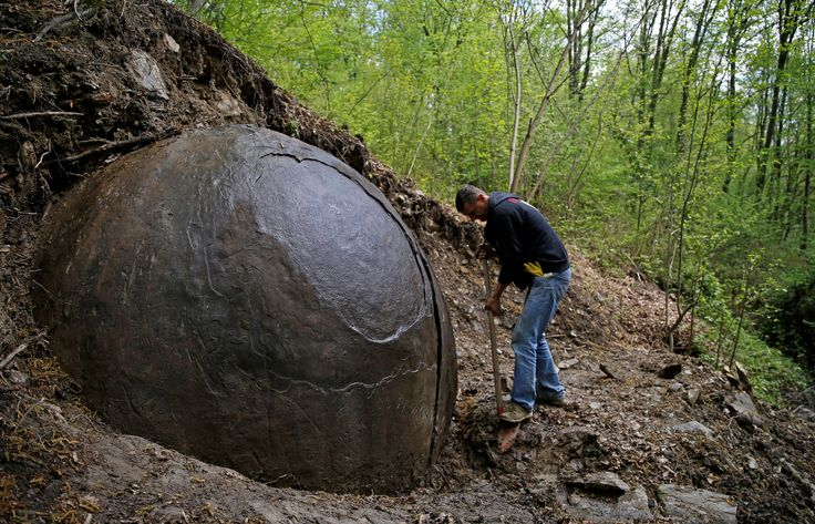 Spherical Rock in Bosnia Stirs Controversy I am no geologist, but I have seen a few rocks in my day, and I am fairly sure that is not a rock.
