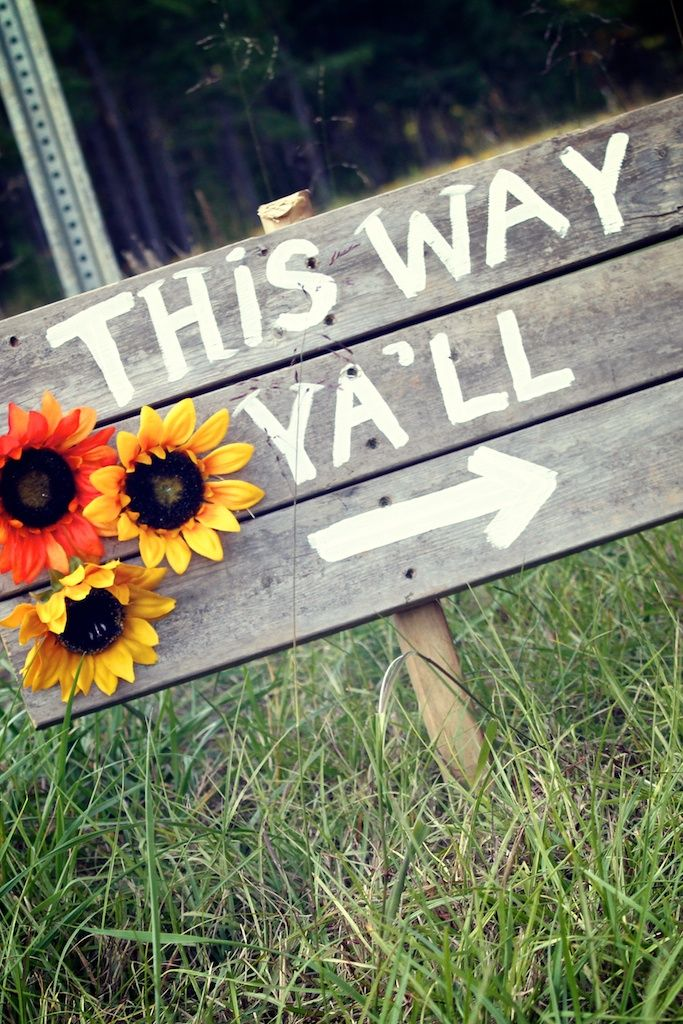 Kayla's country wedding signs