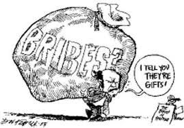 Image result for images of bribery a