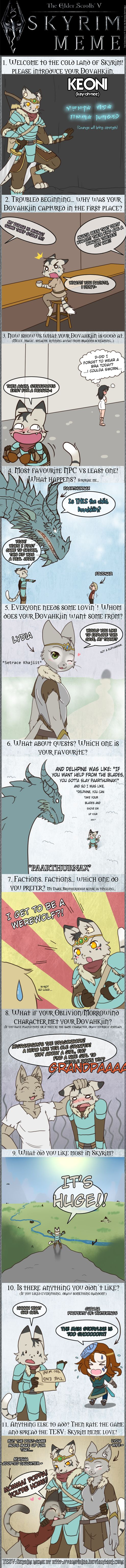 Skyrim Meme feat. Keoni by TheNekoStar on DeviantArt