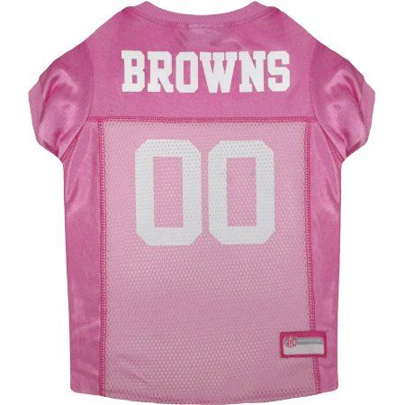 Pets First NFL Cleveland Browns Pet Pink Jersey, 4 Sizes Available