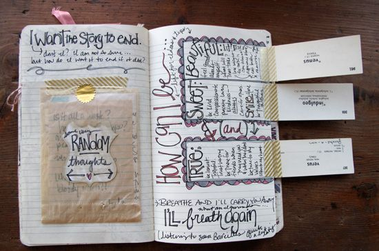 besottment by paper relics: a belated journaling post & other news