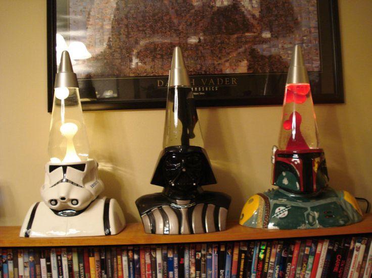 For the Star Wars aficionado. Quite rare and unique lamp bases. Slight close-up.