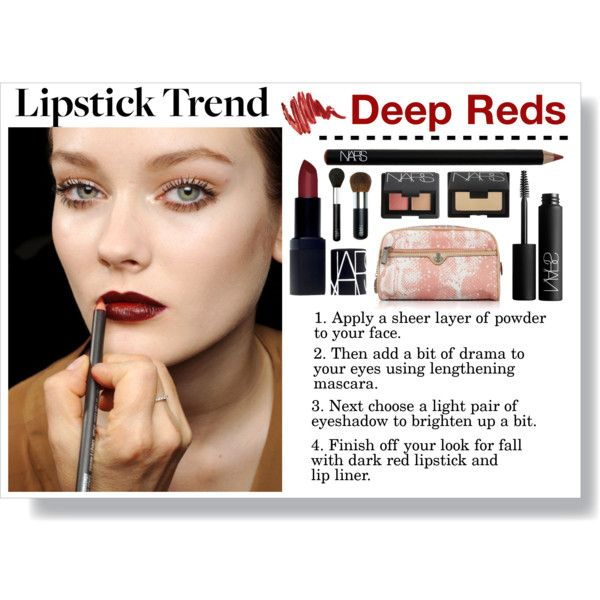 """Deep Reds: Fall Lipstick Trend"" by emc1397 on Polyvore"