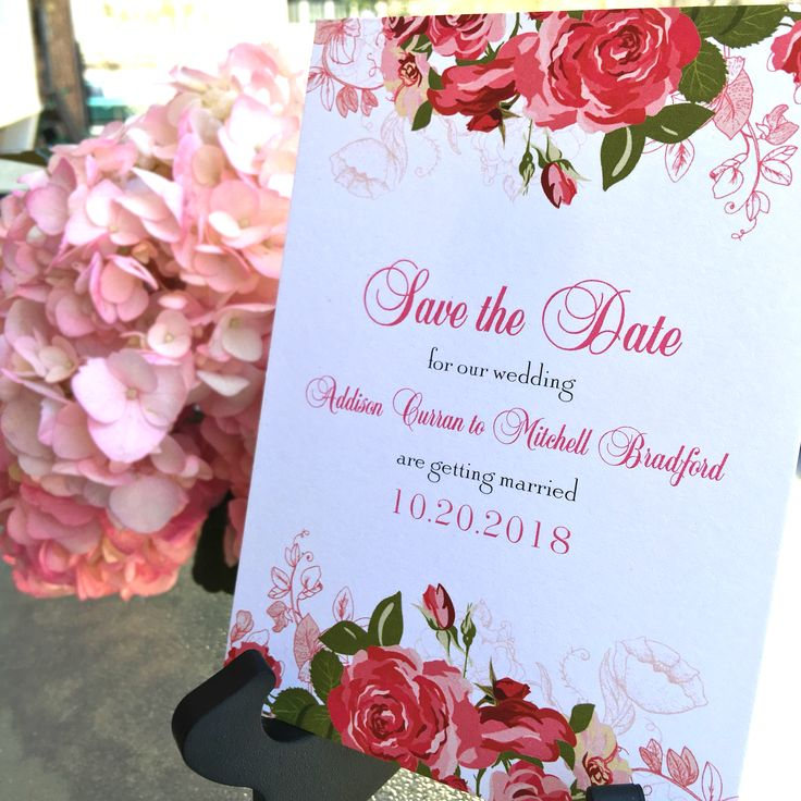 Rose Save The Dates American Wedding Theamericanwedding