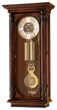 Howard Miller Limited Edition Key Wound Triple Chime Wall Clock | STEVENSON - traditional - Clocks - Interior Clue