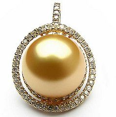 Golden South Sea Pearl Pendant - another winner - gem jewelry organic jewel