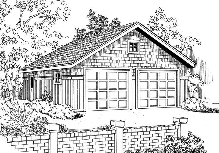 56 best garage plans images on pinterest car garage for 10 car garage plans