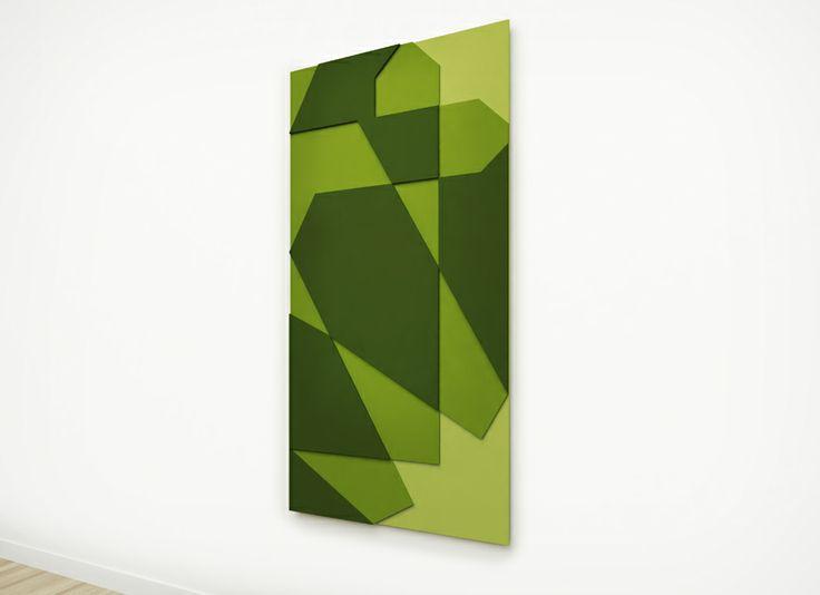 Green Ray, acrylic on MDF, 710 x 1400 mm, 2014 © Mostapha El Oulhani