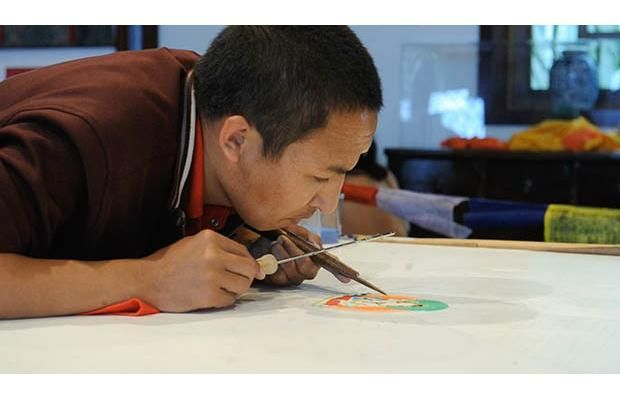 Video: Buddhist monks create #Vancouver Sacred Sands - Grains of Truth  First time sand mandala created outside Tibet