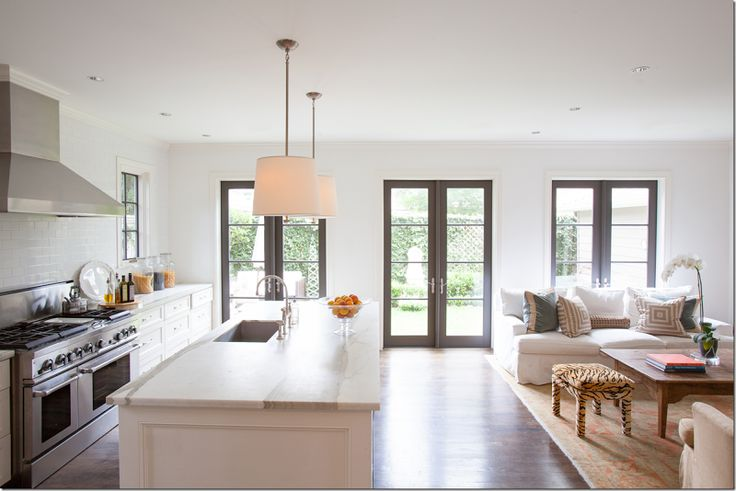 Kitchen by ashley goforth via cote de texas kitchens - Decorating open floor plan living room and kitchen ...