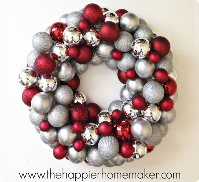 DIY Christmas Decorations | Make an ornament wreath in only 30 minutes!