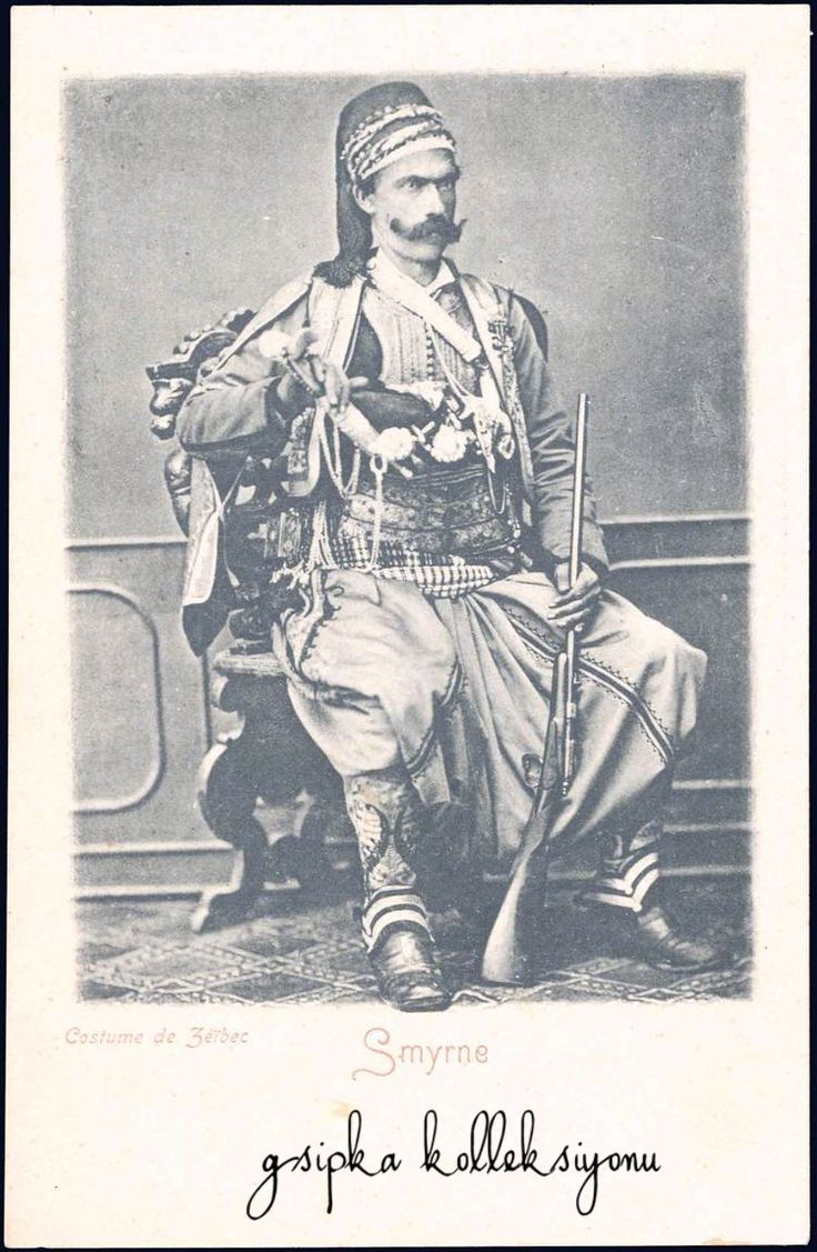 Zeybek / Zeibek / Ziebek from İzmir. Zeybecks were irregular militia and guerrilla fighters living in the Aegean Region of the Ottoman Empire from late 17th to early 20th centuries, of Thracian origin.