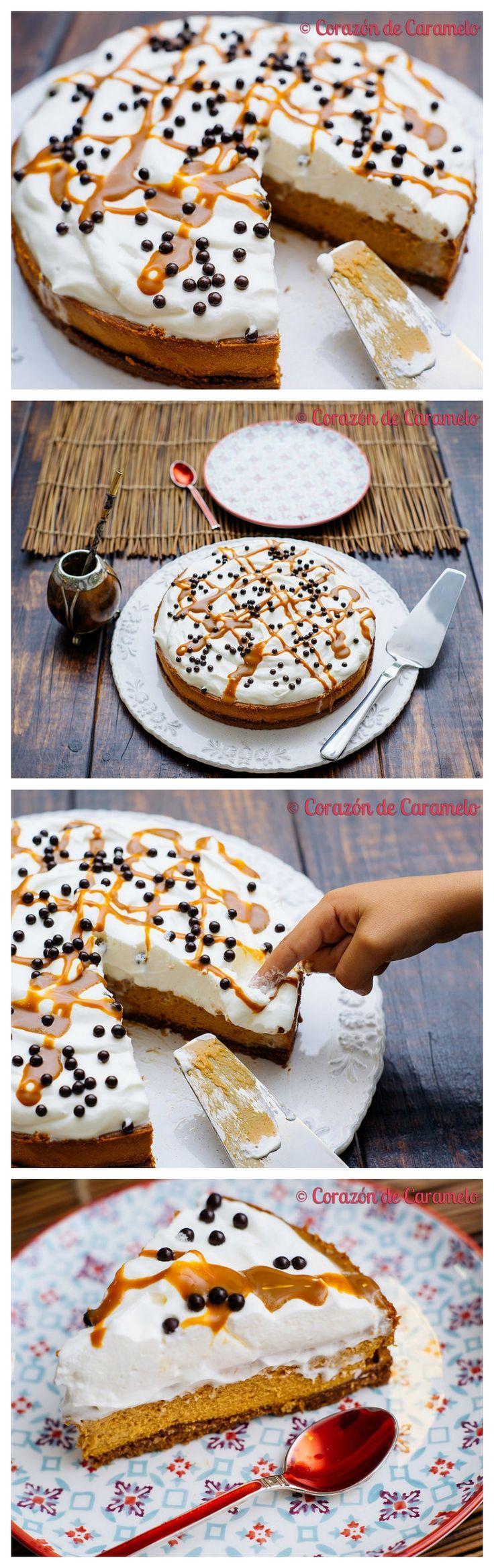 tarta, cheesecake, dulce de leche, nata montada, galleta, pastel de queso