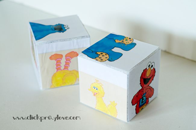 Click. Pray. Love: Toddler Activity (18-24 Month) #2: Make Your Own Character Match Up Blocks