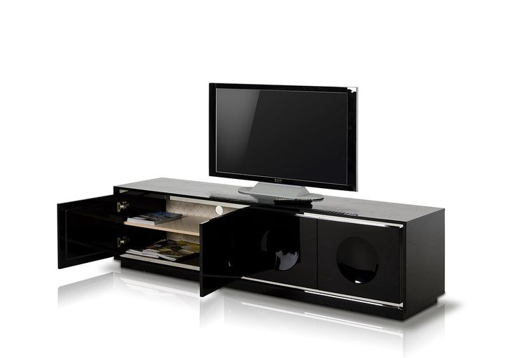 "A&X Grand Modern Black Crocodile Lacquer TV Stand VGUNCK6306-200-BLK Product : 15047 Features : Modern Black crocodile lacquer tv stand 4 Doors 2 Shelves Wire Holes Stainless Steel Accents Soft Closing Hinges Dimensions : TV Stand : W79"" x D18"" x H20"""