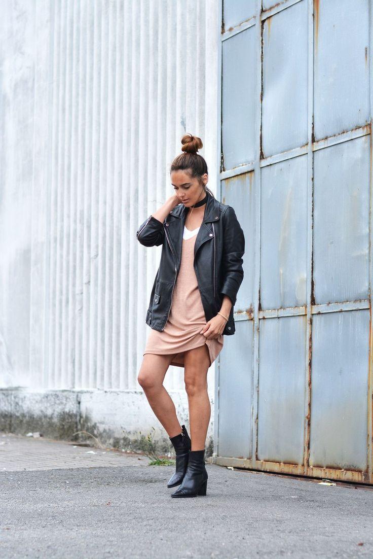 dress: Zara ( sales ), choker: Urban Outfitters, boots: Zara, jacket: last season, sunnies: Celine, tee: Mango