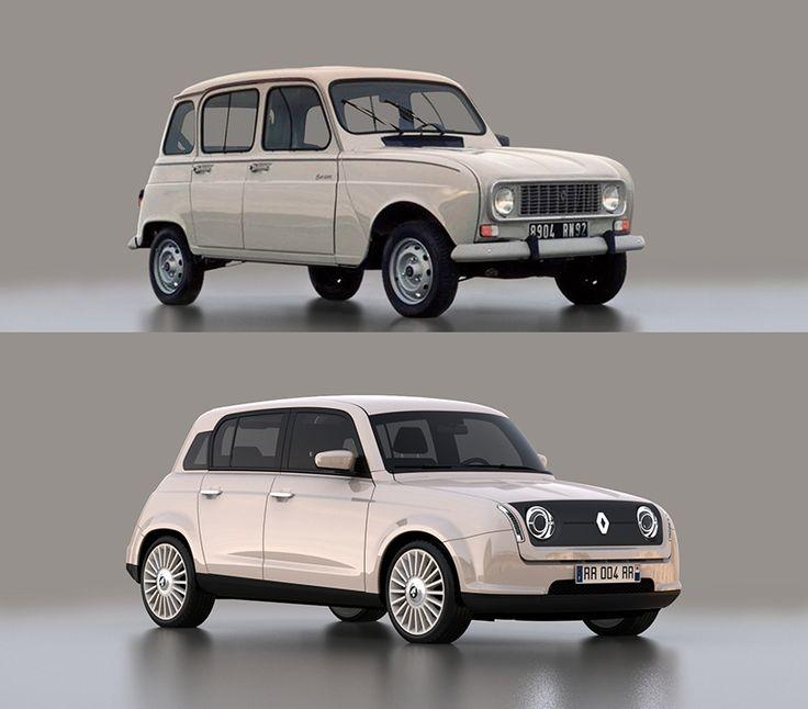 David Obendorfer ganador concurso de la revista electrónica «Designboom», con la versión moderna del Renault 4
