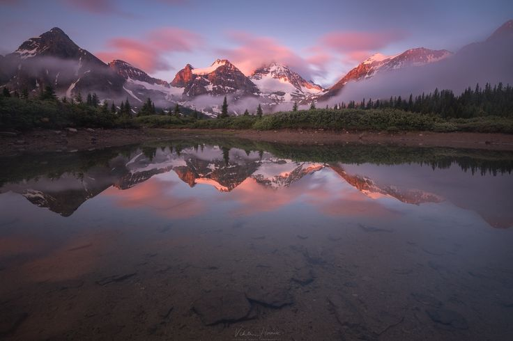 """At the reflecting ponds - Dawn at Assiniboine...one of my favourite places!  My <a href=""""https://www.facebook.com/pages/Viktoria-Haack-Photography/116186781787512?pnref=lhc""""> facebook </a> and <a href=""""https://instagram.com/viktoriahaack/""""> instagram </a>"""