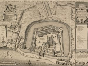 Plan of the Tower of London, 1597.