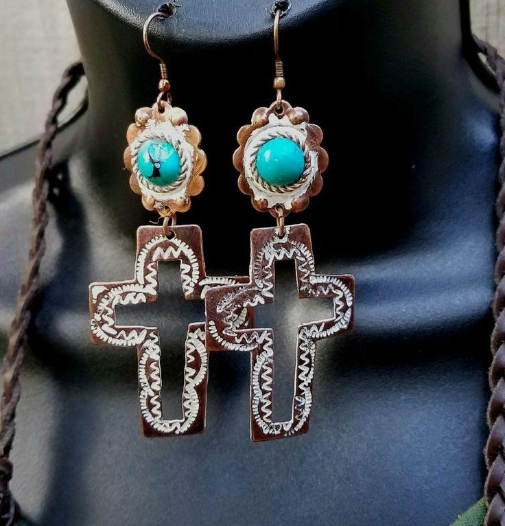 Cowgirl Bling Gypsy CROSS  EARRINGS copper tone  southwest | Jewelry & Watches, Fashion Jewelry, Earrings | eBay!