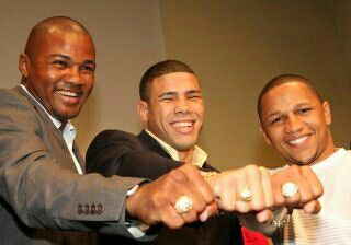 Felix Trinidad, Juan Manuel Lopez and Ivan Calderon - Puerto Rican boxing champions