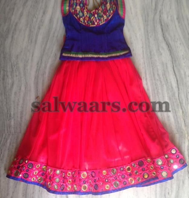 Mirrors Pink Lehenga - Indian Dresses