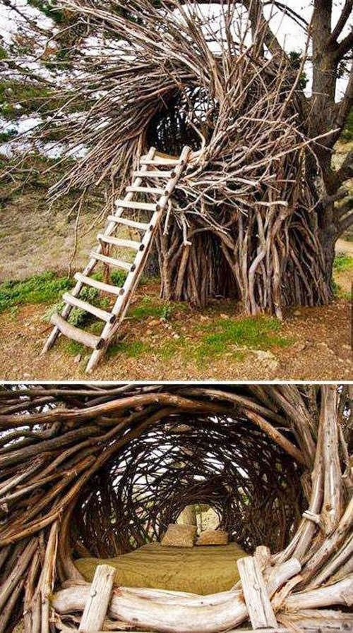 Amazing Nest Bed #Sculpture #Treehouse #Wood