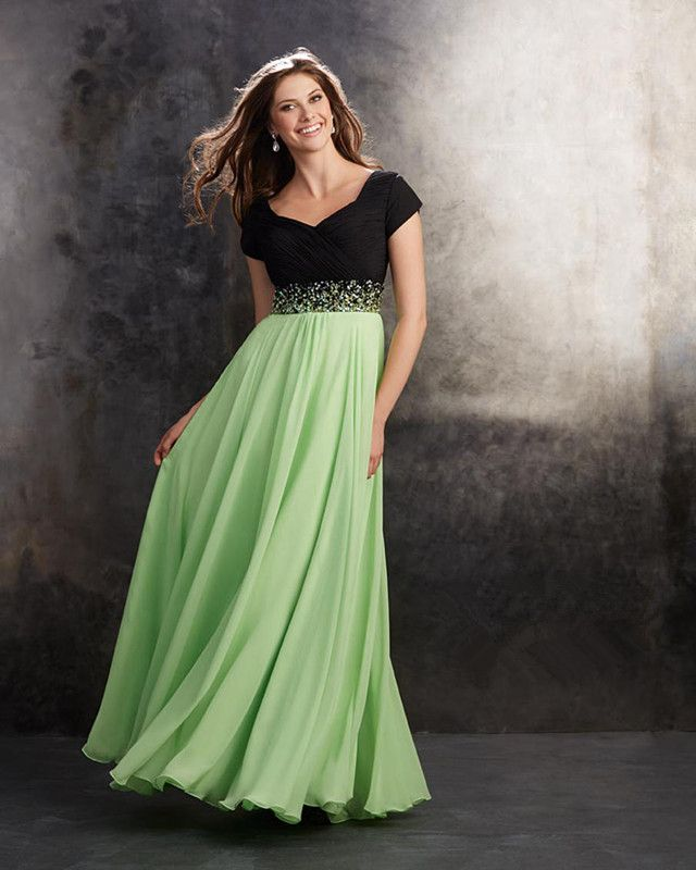Long Chiffon Prom Dresses 2015 with Beads | wowodress.com