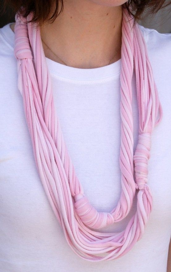cute pink t shirt necklace