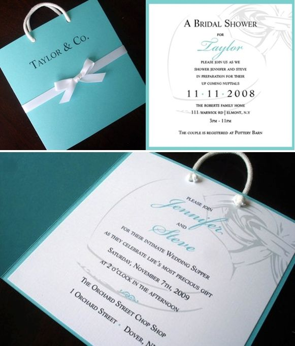 Breakfast at Tiffany's Wedding Invitation, blue bag baby shower invitations, Unique quinceanera, Sweet 16 invitation, creative Bat Mitzvah