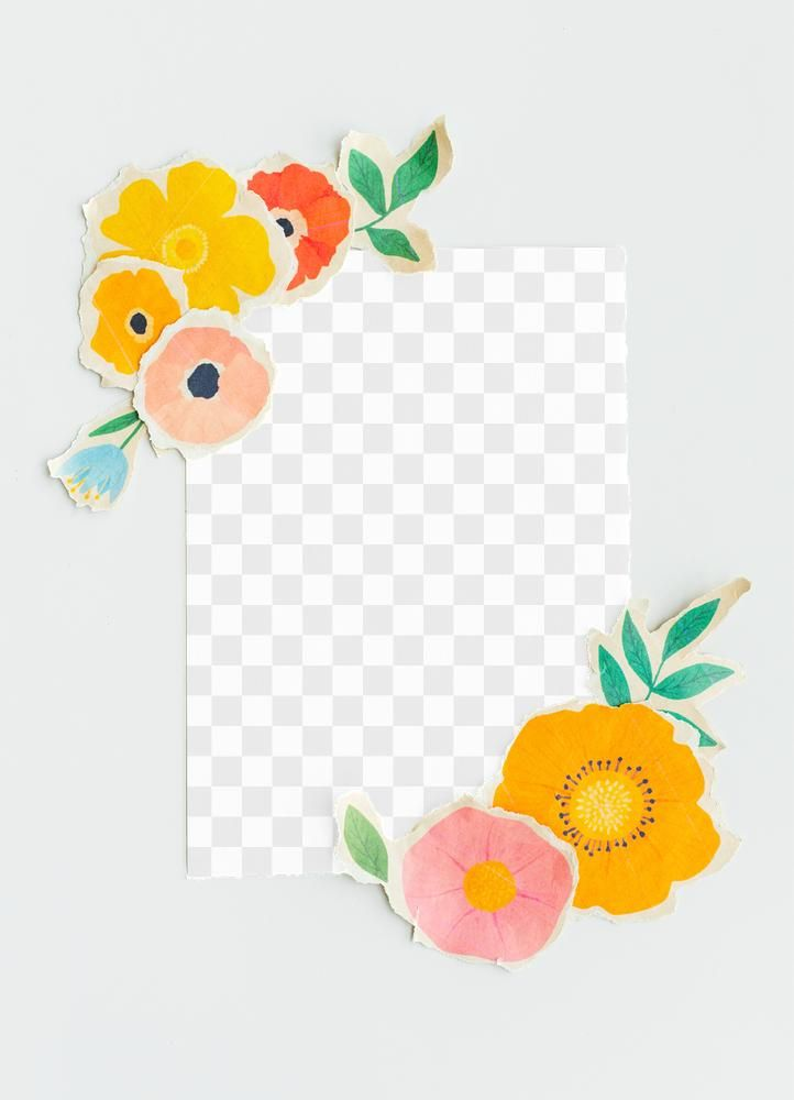 Blank Card Mockup With Paper Craft Flowers Free Image By Rawpixel Com Ake Card Template Floral Cards Design Red Envelope Design