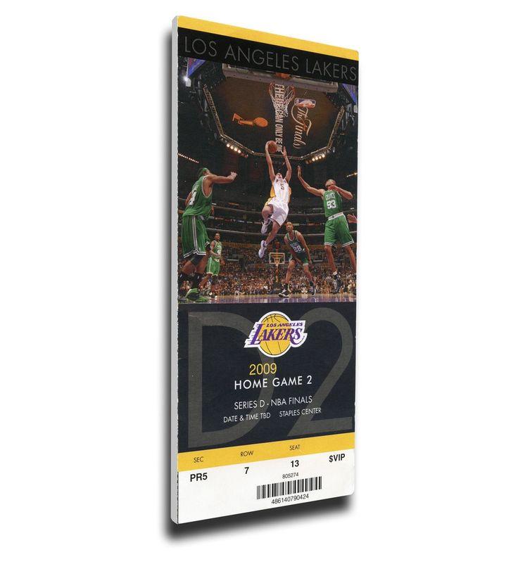 Los Angeles Lakers Wall Art - 2009 NBA Finals Canvas Mega Ticket - Game 2