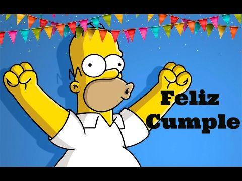 Cancion FELIZ CUMPLEAÑOS BATUCADA de Los Simpson niños CANCIONES INFANTIL Divertida infantil - YouTube