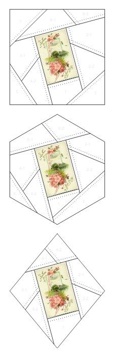 Best Wishes and Greetings crazy quilt block patterns posted on Janet Stauffacher's Nostalgic NeedleART blog in 2012.