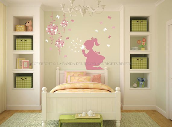 Wall Decals Kids Wall Stickers Baby Nursery Room Decor Butterflies And  Shower Heads Part 92
