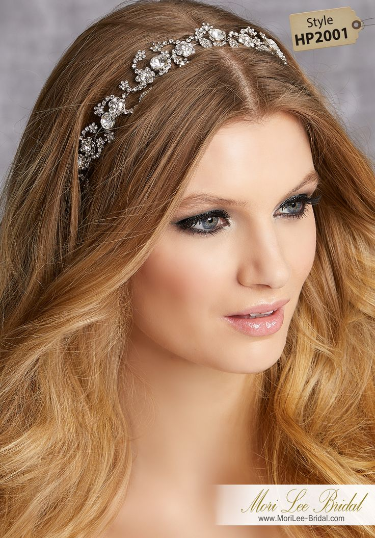 STYLE HP2001 Crystal and Rhinestone Hair VineAvailable in Silver