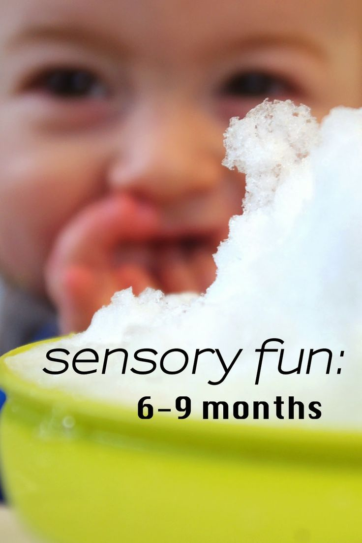 Sensory activities for you 6-9 month old.