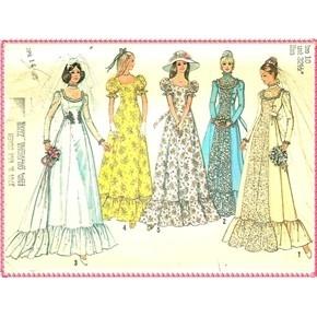 My wedding dress pattern 1979