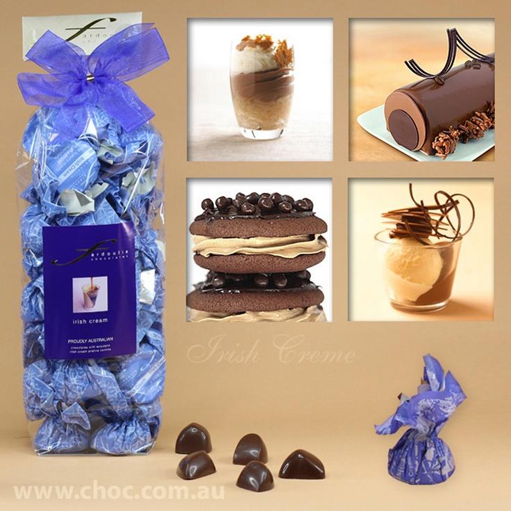 Irish Creme Cellophane Bags  Fardoulis Chocolates, Chocolate Plato  www.choc.com.au