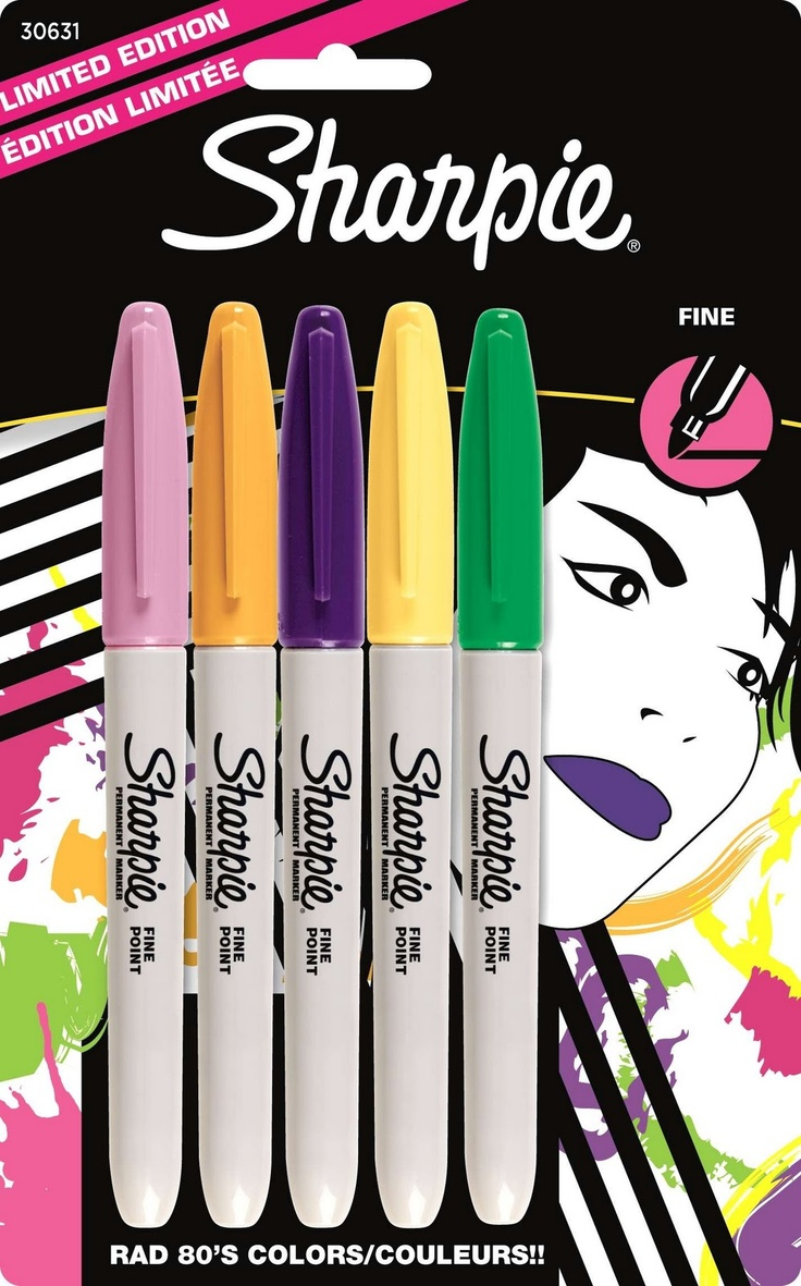 Sharpie 80s glam collection.