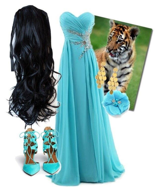 """Arabian Princess."" by emilayy123 ❤ liked on Polyvore featuring bellezza, Aquazzura e Stephanie Kantis"