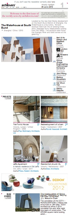 Hey there, the first Archilovers weekly newsletter is out!   Top projects, people and stories of the week on www.archilovers.com !   Register now and sign up for the newsletter!  http://www.archilovers.com/manager/Newsletter.aspx?nrnews=1    #archilovers #architecture #newsletter #graphic #inspiration #news #weekly #arquitectura #design #interiors #album #style #cool